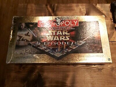 Hasbro Monopoly Star Wars Episode 1 Collector's Edition Board Game 100% Complete