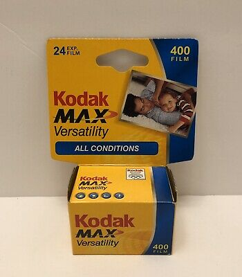 New Kodak Max Versatility 400 Film 24 Exposures 35mm Color 1 Roll Exp 07/2007