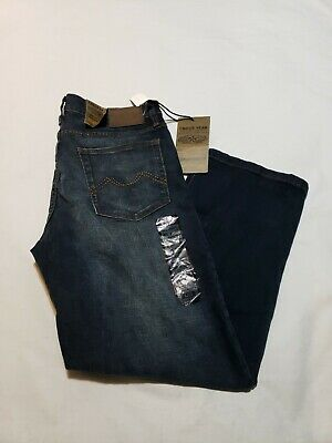 NWT Urban Star Stretch Relaxed Fit Straight Leg Blue Jeans Mens 36 X 30 - M3681