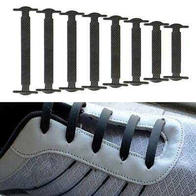 1*White No Tie Adult Kids Shoelaces Silicone Rubber Slip Easy Shoe Laces Sneaker