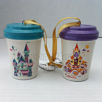 Disneyland Disney California Adventure Holiday Starbucks Mini Tumbler Ornaments