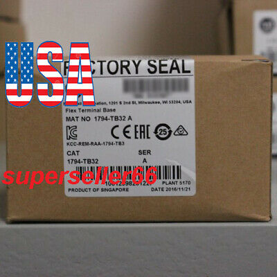 New Sealed A+Allen-Bradley 1794-TB32 Flex I/O Terminal Base, 32 Point Cage Clamp
