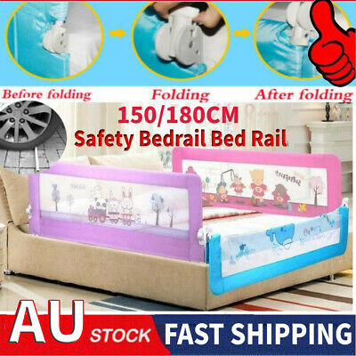 2 Colors Safety Child Toddler  Bed Rail Baby Bedrail Fold Cot Guard Protection
