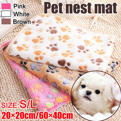 Pet Soft Blanket Cosy Warm Pet Dog Cat Animal Blanket Throw Mat Extra Large S-L