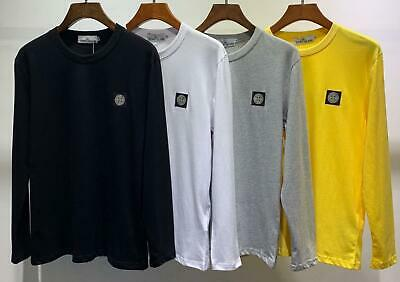 Stone island Logo round neck long sleeve t-shirt