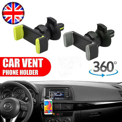 360° Universal Rotating Car Mobile Phone Holder Air Vent Mount Cradle for GPS UK