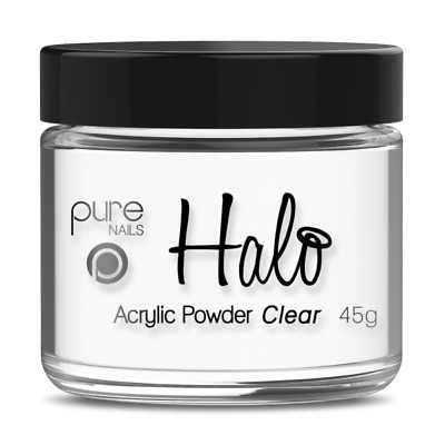 Halo By Pure Nails Acrylic Powder CLEAR - 45g Pot