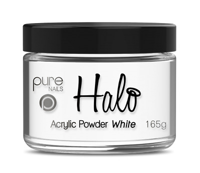 Halo By Pure Nails Acrylic Powder WHITE - Large 165g Pot