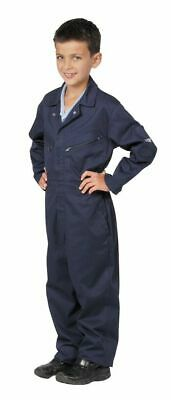 Youths Childrens Boilersuit Overalls Age 6-7 C890 Navy Blue