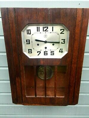 Art Deco French Westminster Chimes Wall Clock W/O