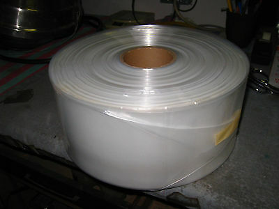 "500 LONG CLEAR PLASTIC BAGS  2 MIL ROLL 42""x7.25"" poly tubing 10 cent a bag 26C3"