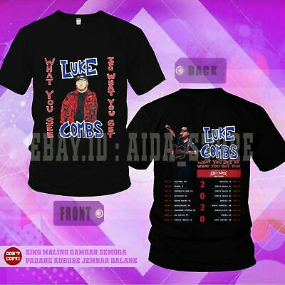 LUKE COMBS 'What You See Is What You Get Tour 2020' Dates T-shirt Sizes S-5XL