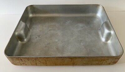 "Bourgeat 50cm x 40cm Commercial Grade Aluminum Roasting Pan 20"" x 16"" France"