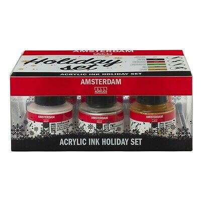 Amsterdam Acrylic Ink Holiday Christmas Colour Set 6 x 30ml
