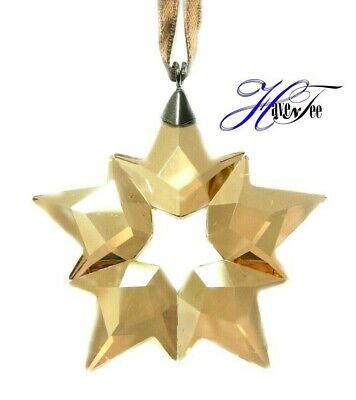 2019 Scs Little Star Gold Ornament Snowflake Authentic Swarovski Crystal 5476002