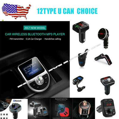 LCD Bluetooth Wireless Car FM Transmitter  Radio Adapter USB Charger Mp3 Player.