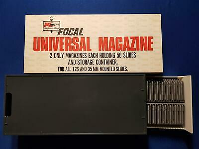 Vintage Focal Universal Magazine Holding 100 Slides and Storage Container 35 mm