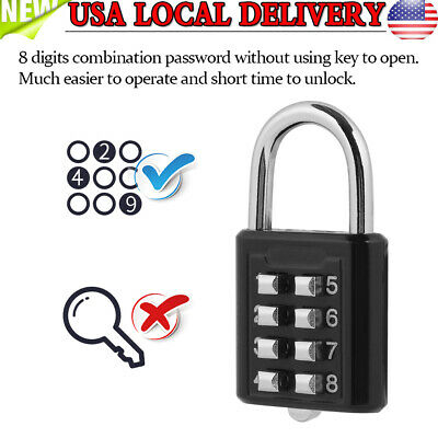 8 Digit Combination Code Padlock Security Password Lock for Suitcase Luggage