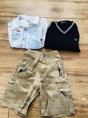 Boys Age 5-6 Yrs Clothes designer tops Fred Perry Diesel Shirt Jumper bundle Sho