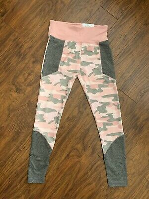Justice Girls NWT Pink Camo Active High Waist Leggings Size 18/20