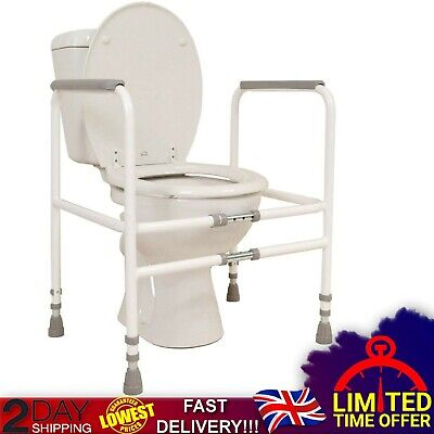 Disabled Toilet Frame Free-Standing Mobility Bathroom Adjustable Safety Aid Rail