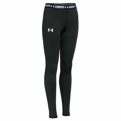 Under Armour Girls Heatgear Armour Tights Black L. Brand New