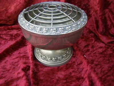 Large Vintage Silver Plated Rose Bowl Viners Table Centerpiece Flower Display