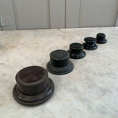 Set of antique trophy bases in graduating sizes