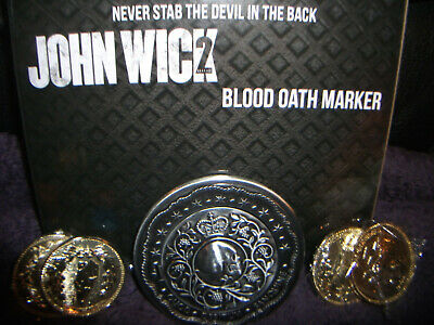 John Wick 2 Blood Oath Marker 1/1 Official Movie Replica Set OFFICIALLY LICENSED