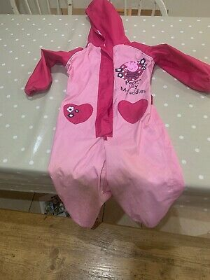 Peppa Pig Muddy Puddles Rain Suit All In One 3-4 Years