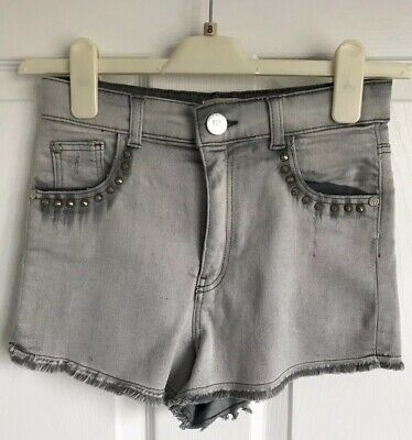 Girls Grey Denim River Island Shorts - Age 11-12yrs