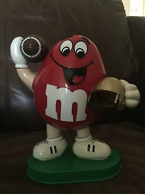 M&M's Red Football-Themed Candy Dispenser 1995 Collectible