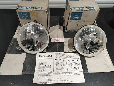 Phares MARCHAL pour SIMCA 1000 neufs - New Old Stock headlamps