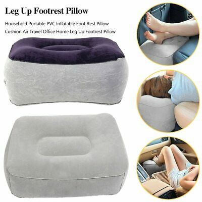 Soft Footrest Pillow PVC Inflatable Foot Rest Pillow Cushion Air Travel Office