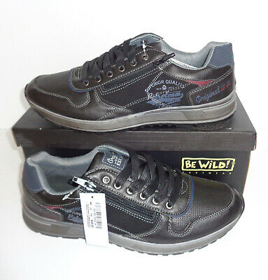 New Mens Black Trainers Shoes Casual Walking Hiking RRP €50 LARGER UK Sizes 9-15