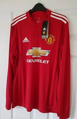 Manchester United2017/18Home Long Sleeve BRAND NEW WITH TAGS Shirt AdultsMEDIUM