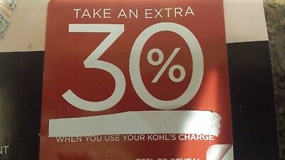 """Kohls EXTRA 30% Off Coupon valid 11/7/19- 11/17 /19 With  """"Kohls Charge"""""""