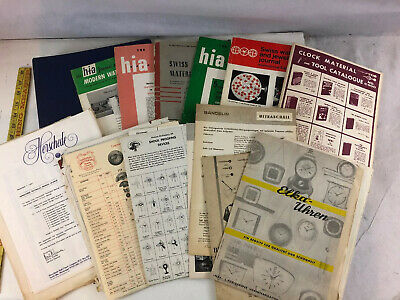 Lot of Vintage Antique Watch clock Making Catalogs, Instructions, Books, Manuals