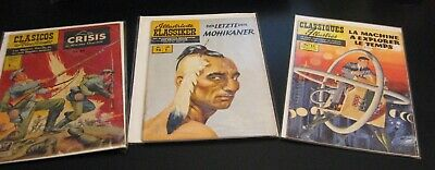 Lot of *8* 60s/70s International/Foreign CLASSICS ILLUSTRATED! Span/Germ/French