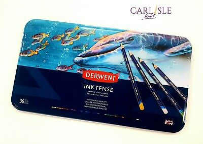 Derwent Inktense Watersoluble Pencils, 36 Tin Set No 2301842