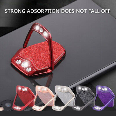 360° Rotate Shiny Finger Ring Stand Holder For Mobile Phone Lazy Glitter Bracket