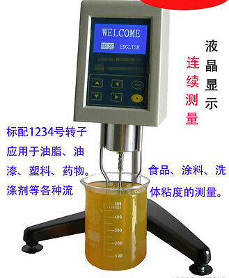 Rotary LCD Viscometer Viscosity Meter Tester NDJ-8S Fluidimeter 200000mPa·s175