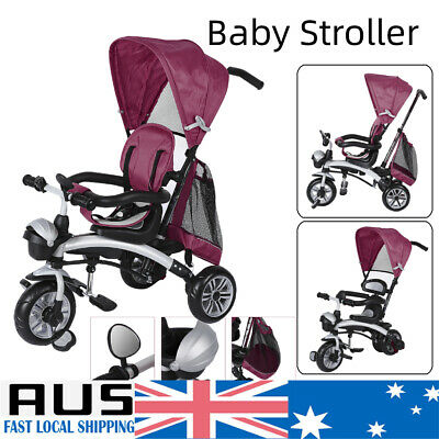 Baby Kids Stroller Prams Reverse Toddler Tricycle Bike Trike Ride-On Trike Toy
