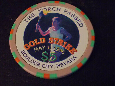 GOLD STRIKE CASINO $5 hotel casino gaming poker chip ~ Boulder City, NV