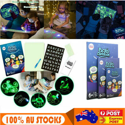 Child Sketchpad Luminous Drawing Board PVC Draw With Light In Darkness Toys Gift