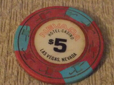 NEVADA HOTEL CASINO $5 hotel casino gaming poker chip ~ Las Vegas NV