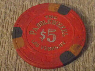 THE PADDLEWHEEL HOTEL CASINO $5 hotel casino gaming poker chip ~ Las Vegas NV