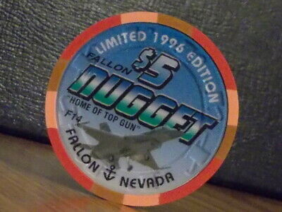 FALLON NUGGET HOTEL CASINO $5 hotel casino gaming poker chip (LTD) Fallon, NV