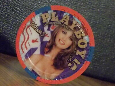PALMS CASINO PLAYBOY CLUB $5 hotel casino gaming poker chip ~ Las Vegas, NV