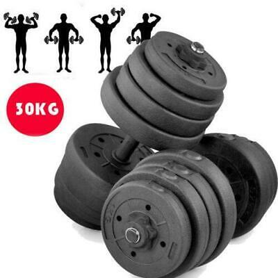 Dumbbell Set Vinyl Dumbbells Sets Weights Fitness Bicep Tricep Gym Weight Bar UK